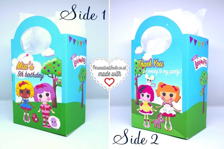 Personalised Lalaloopsy Party Bags - Personalised Invite