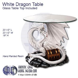 White Dragon Table Glass Table Top Included