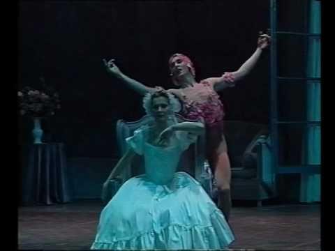 """Manuel Legris and Claude de Vulpian in Michel Fokine's """"Le spectre de la rose""""."""