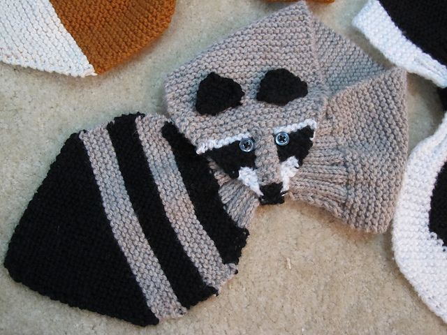 Ravelry: knitfomaniac's Fox, Raccoon, and Skunk More