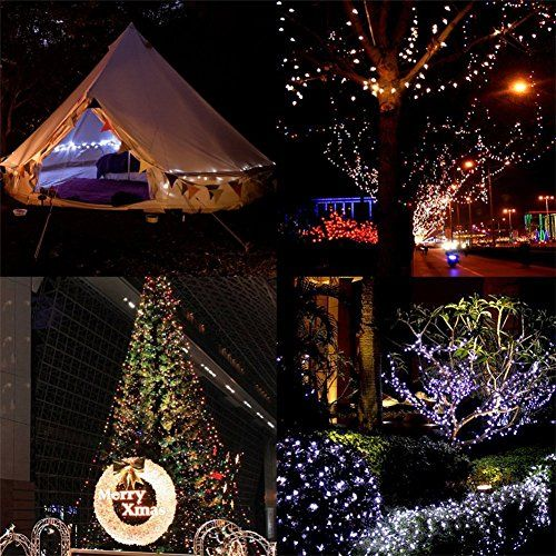 Solar powered string lights 100 leds waterproof fairy lamp for outdoor garden xmas tree wedding decoration ld g white