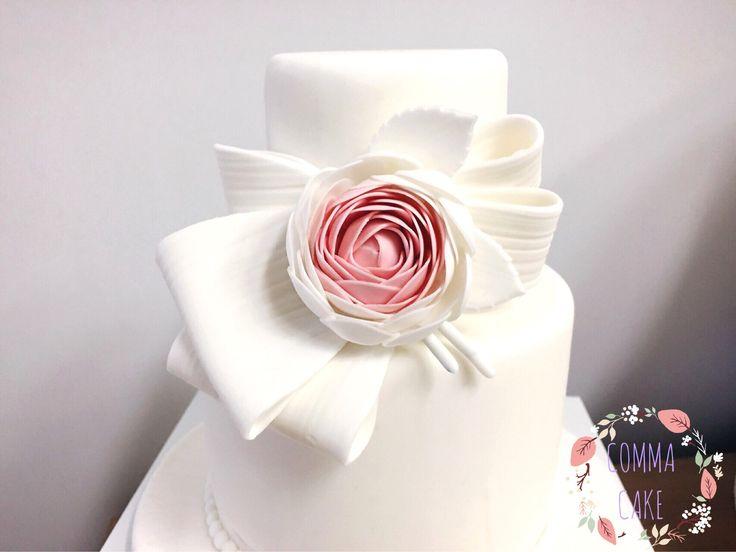 [콤마케익_COMMA CAKE] 코사지 웨딩슈가케이크/ weddingcake / minicake / weddingsugarcake / partycake