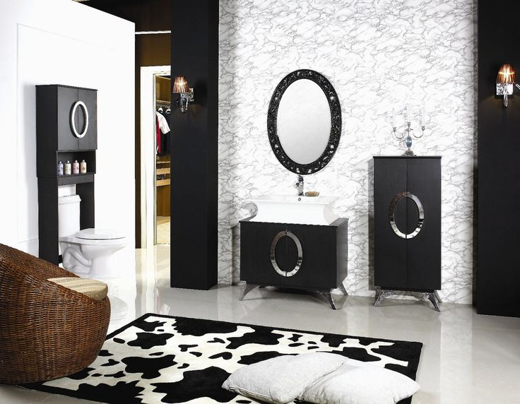 Best Photo Gallery Websites Black And White Bathroom Vanity Modern Black Bathroom Vanity Vanity With White Porcelain Sink And Artistic Black Mirror Frame Also Free Standing Bathroom