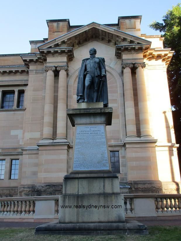 Sir Richard Bourke memorial statue, outside NSW State Library.