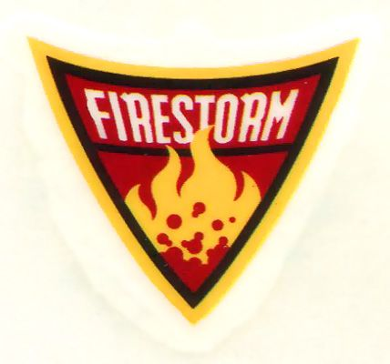 firestorm logo temporary tattoo from batman the brave and
