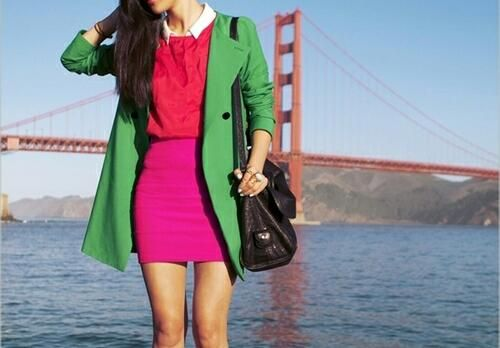 Now thats how you combine colors to create and outfit
