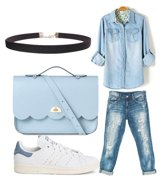 """""""Untitled #116"""" by adrianna-nicole-smith on Polyvore featuring Sans Souci, adidas, The Cambridge Satchel Company and Humble Chic"""