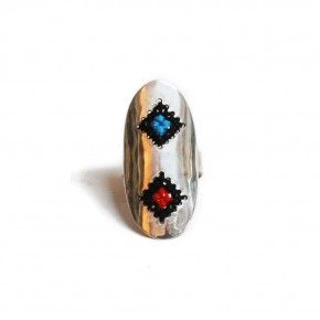 Sterling silver ring.Handmade embroidered silver. Traditional patterns. Greek embroidery patterns