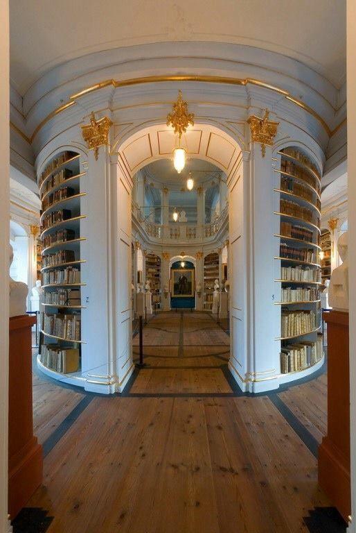 La Bibliothèque de la Duchesse Anna Amalia (Herzogin Anna Amalia Bibliothek) à Weimar en Allemagne.