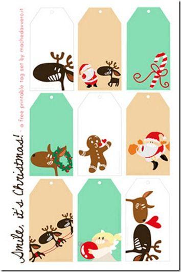 FREE printable- Super cute MODERN christmas gift tags