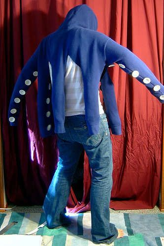 octopus hoodie .. happy (cheap) halloween costume!
