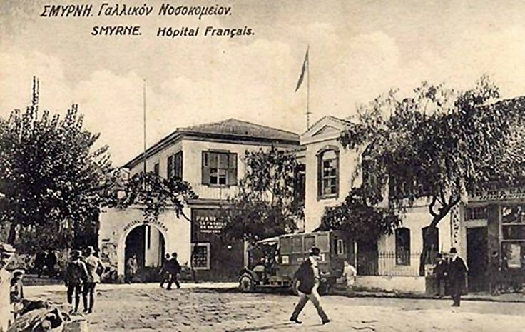 1920'ler İzmir Alsancak Fransız Hastanesi  1791'de yapılan bina Zemin + 1 katlı olup 19.yy Son dönemde tekrar restorasyonu yapılmıştır.