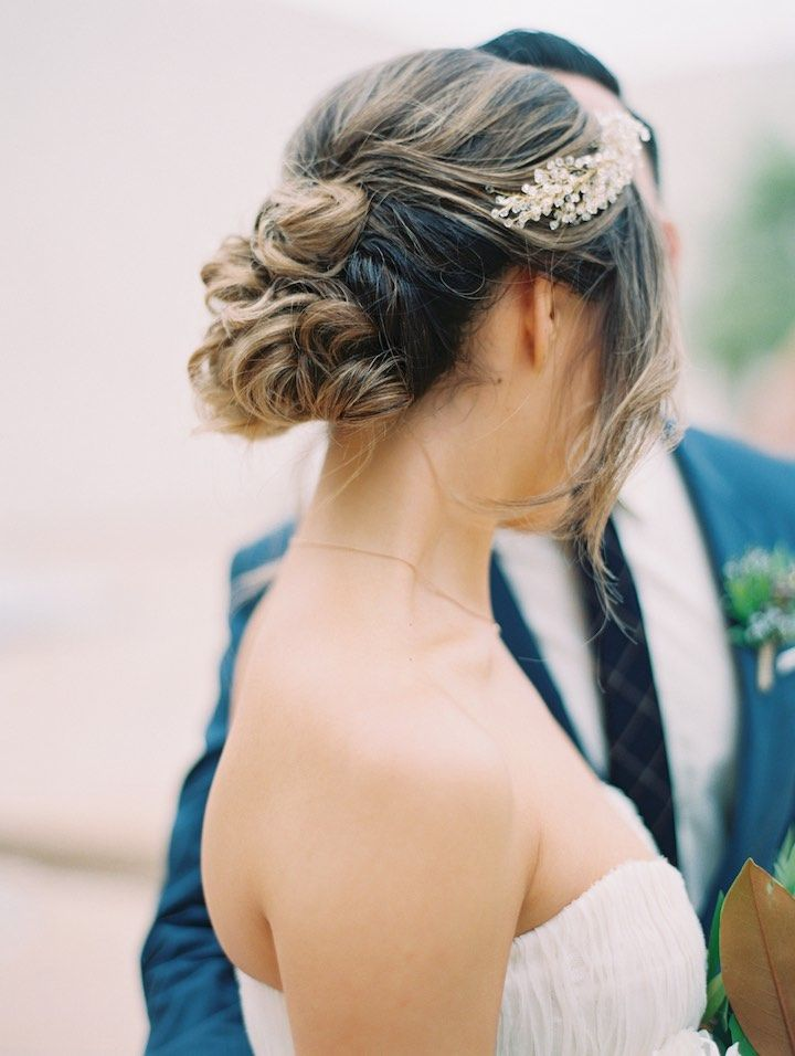 Featured Photographer: Esther Sun Photography; wedding hairstyle idea, click to ...
