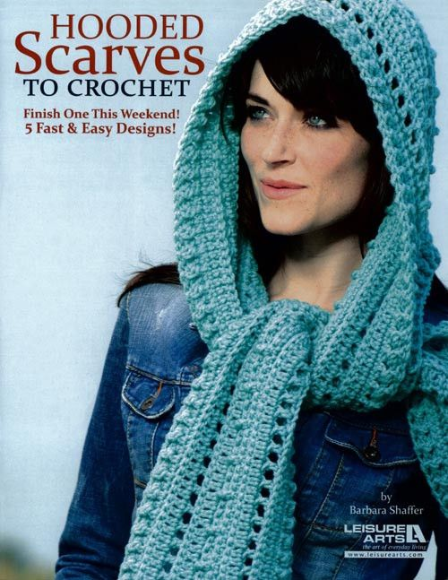 Maggie's Crochet · Hooded Scarves To Crochet. Links to a book to purchase, but i think i can figure it out