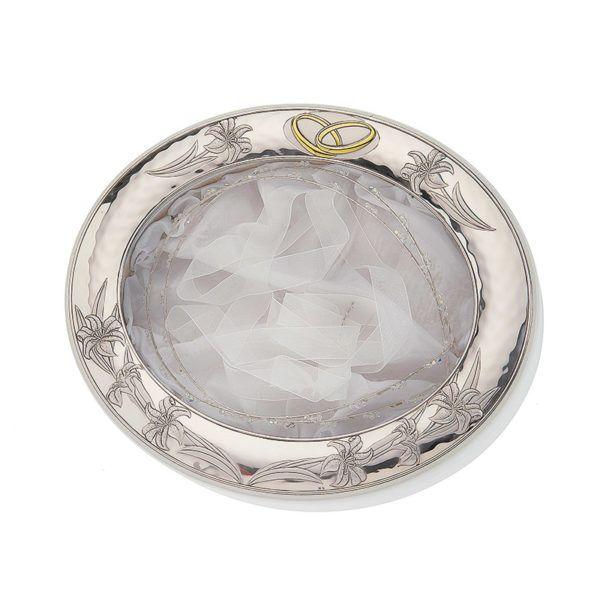Στεφανοθήκη οβάλ Prince silvero ασήμι 925