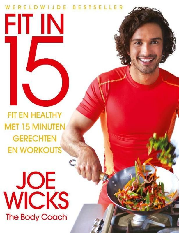 Bodycoach Joe Wicks laat je in zijn boek 'Fit in 15' zien hoe je met een kwartiertje koken en een kwartiertje sporten per dag vet verliest en spiermassa kweekt, zonder dat je minder hoeft te gaan eten! Het dieetboek bevat 100 gezonde en slanke recepten voor 15 minuten maaltijden die lekker zijn en goed vullen.