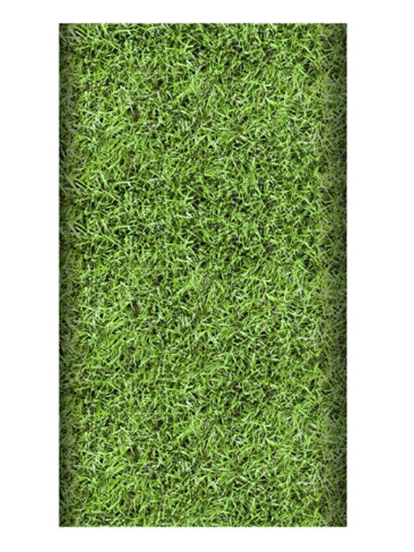 Papieren tafelkleed grasmat 120 x 180 cm. Voetbal tafelkleed met gras print van ongeveer 120 x 180 cm groot.