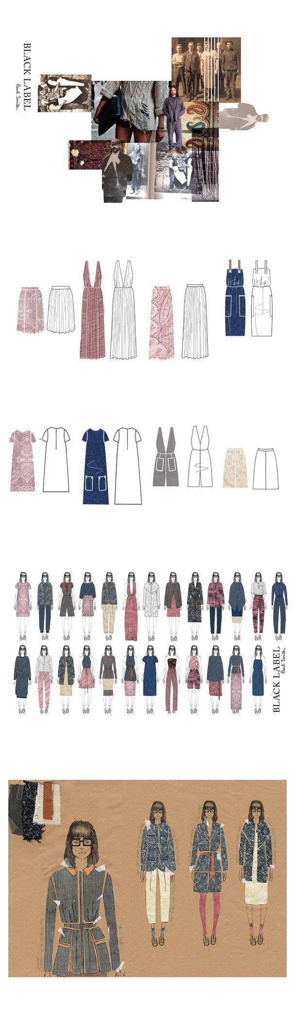 Fashion Sketchbook - Paul Smith design project inspired by historical British paisley prints - fashion design development; fashion portfolio // Phoebe Baker