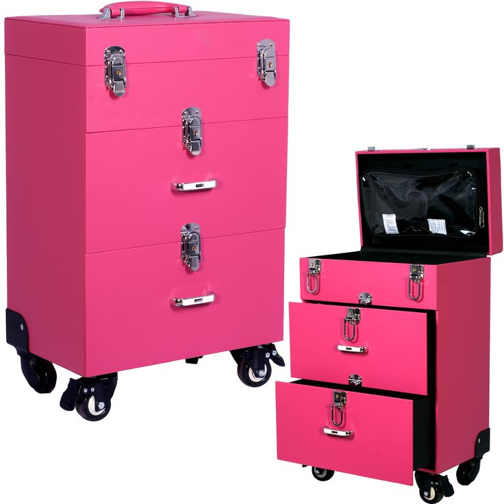 MakeupCreations - Pro Nail or Makeup Case on Wheels-Pink Leather Like, $199.99 (http://www.makeupcreations.com/pro-nail-or-makeup-case-on-wheels-pink-leather-like/)