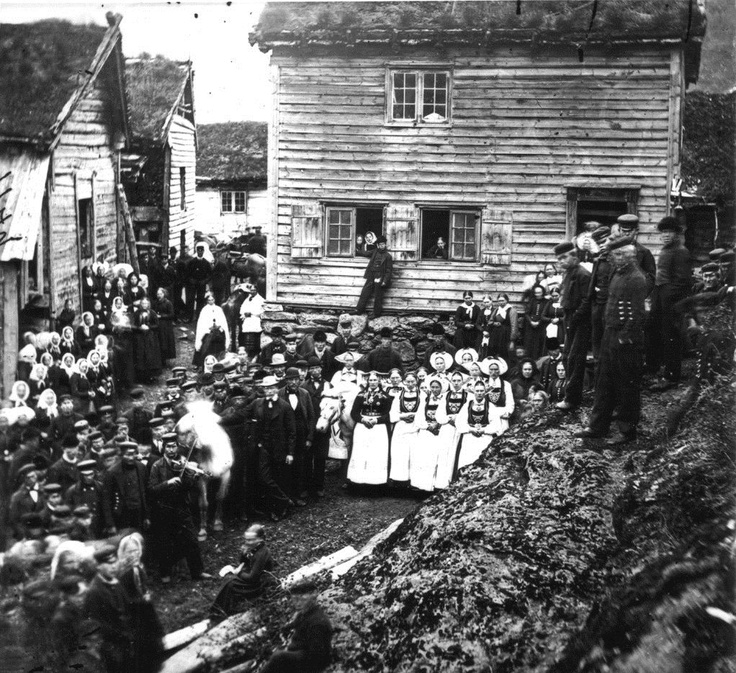 Event at Old Vinje in 1869, Norway