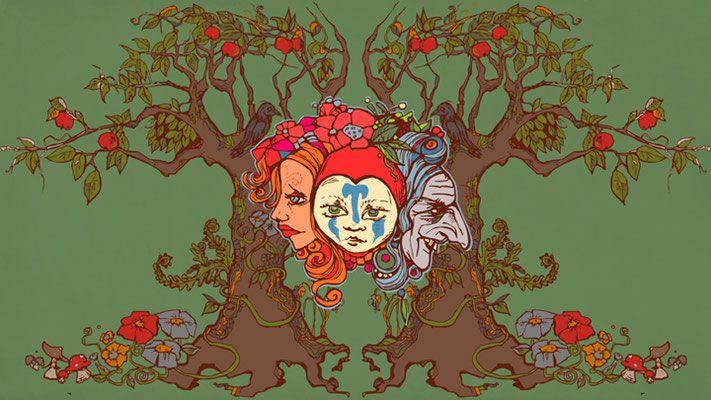 "Little Red - zonfeld library Illustration Gestaltung Konzept  Godess  ""Die dreifache Göttin"" Illustration zonfeld - Judith Werner 2017"