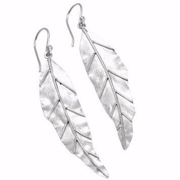 Earrings - LEAF - Sterling Silver