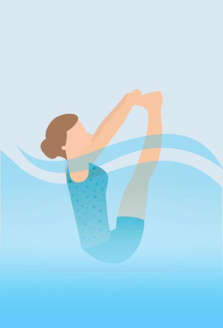 Hot tub Yoga - tree Pose