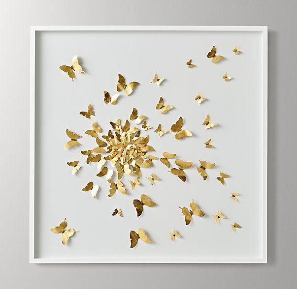 Hand-Folded Paper Butterfly Spiral Art