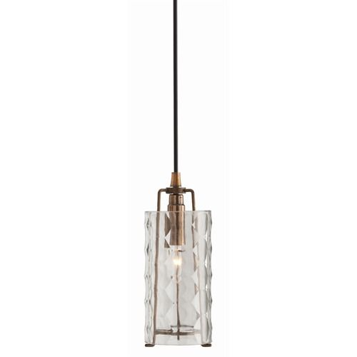 Arteriors Ice Faceted Small Clear Glass Iron Pendant On Sale The From Features Heavy Polished And