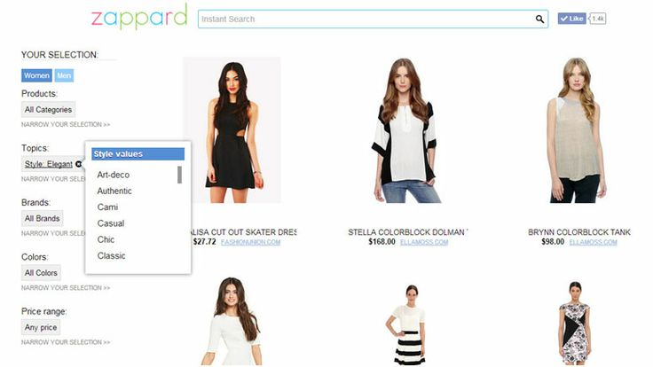 Zappard.com - Zappard knows what's right for us. Look for products by topics  and explore a wide variety of elegant dresses. This is really helpful. What's your opinion?!