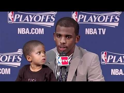 I've always liked Chris Paul, but I loved him after this adorable vid of his son last year.