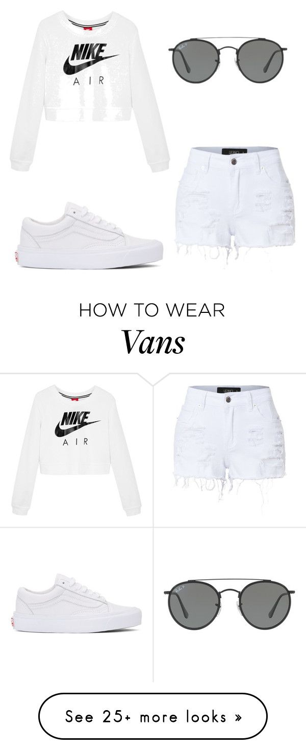 """Untitled #1"" by youngjune on Polyvore featuring NIKE, LE3NO, Vans and Ray-Ban"