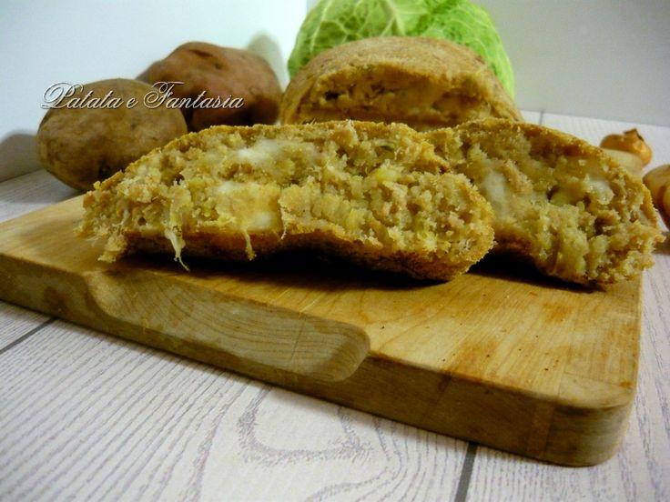 Polpettone di patate con tonno e verza | Ricetta vegetariana del polpettone | polpettone vegetariano | Ricetta di patate  | Patate e tonno