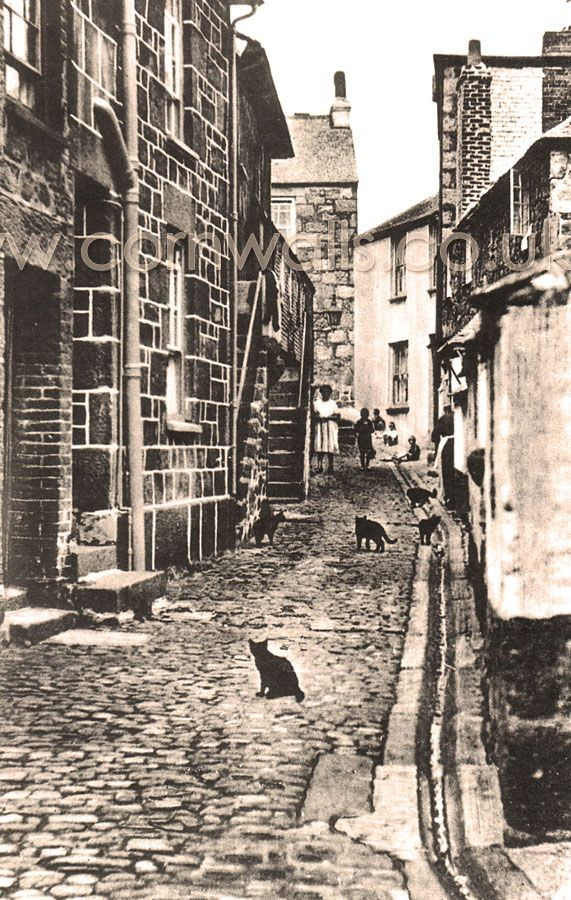 Virgin Street just off Fore Street in St Ives (1920s).