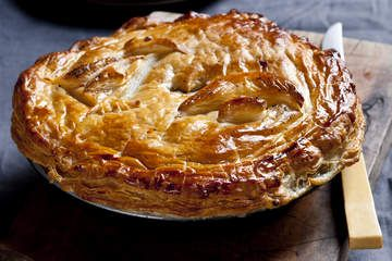 Chicken, mushroom and leek pie! I had this for dinner and it was amazing!
