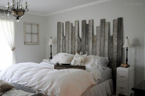 Recycled style, salvaged wood, diy headboards