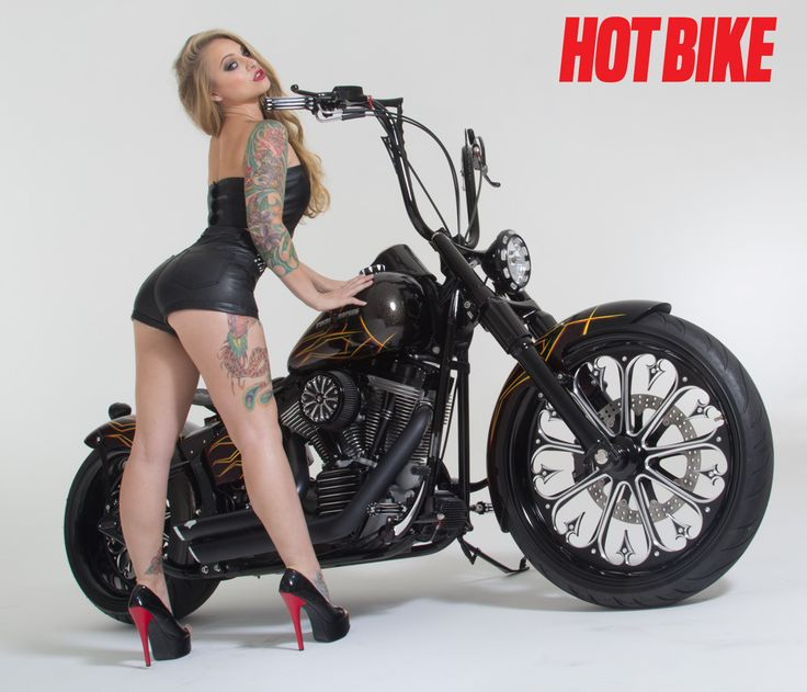 hot bike model nude