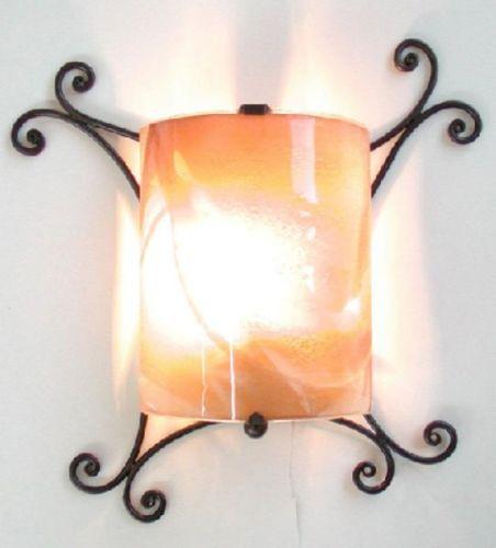 LANTERNA-APPLIQUE-COPPO-IN-FERRO-BATTUTO-LANTERNE-APPLIQUE-LAMPIONE-LAMPADE