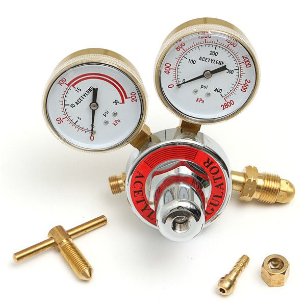Welding Gas Acetylene Pressure Reducer  Regulator Gas Meter Pressure Gauge