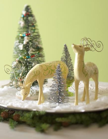 Christmas Artificial Evergreen Centerpieces