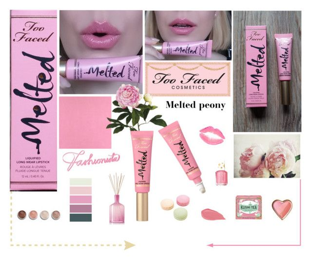 """""""Too faced melted peony"""" by aleksa ❤ liked on Polyvore featuring beauty, Casadeco, Too Faced Cosmetics, Pottery Barn, Allstate Floral, Essie, Ladurée, Kusmi Tea, LAFCO and Terre Mère"""