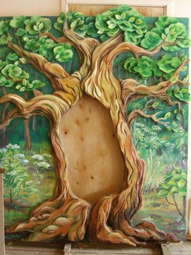 Дерево из поролона