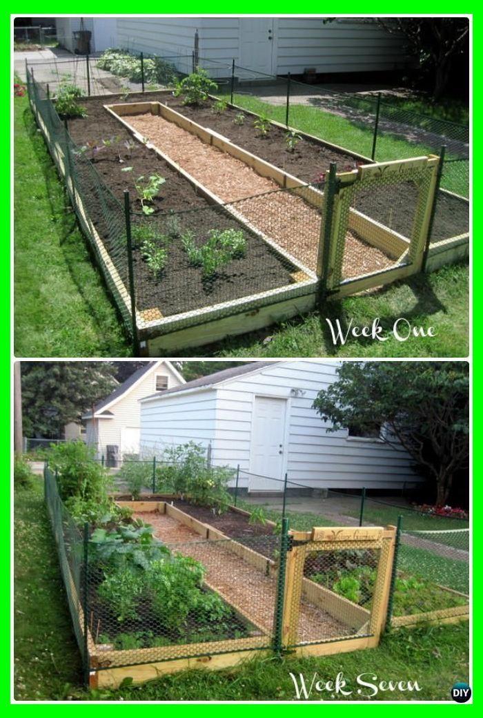 20 Diy Raised Garden Bed Ideas Instructions Garden Ideas Vegetable Backyard Vegetabl Diy Raised Garden Garden Layout Vegetable Backyard Vegetable Gardens