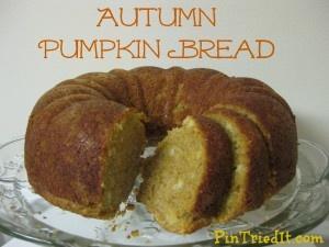 Delicious Autumn Pumpkin Bread Recipe