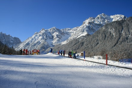 Skikurs direkt am Hotel