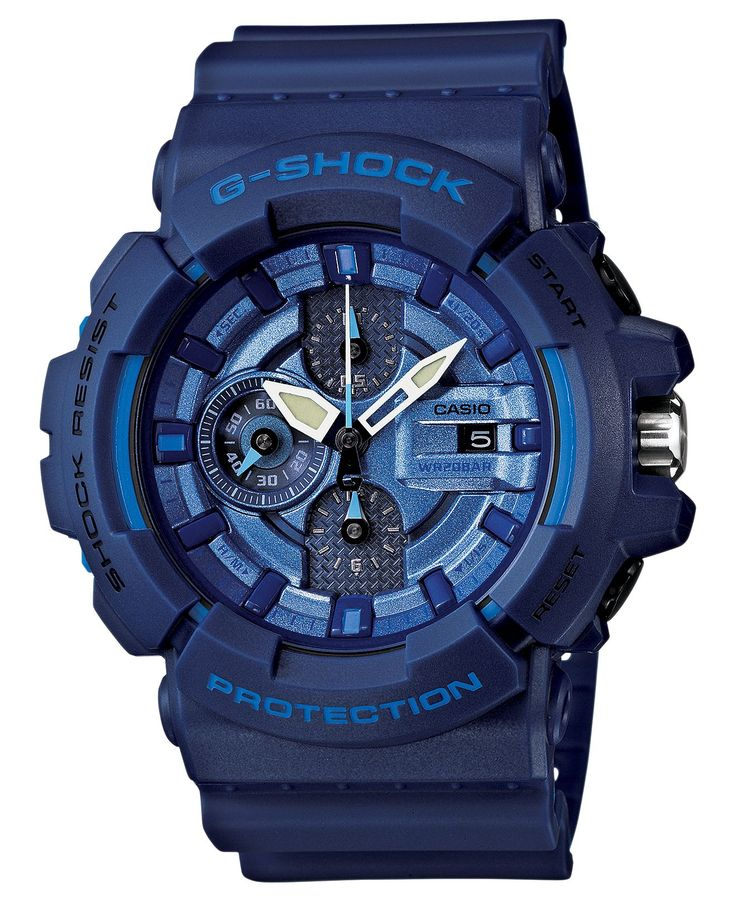 G-Shock Watch, Men's Chronograph Blue Resin Strap