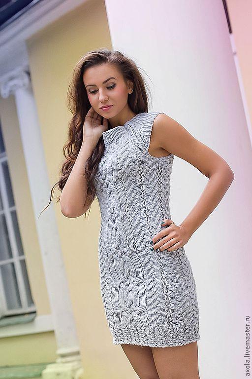 """Платье """"Однажды"""" - платье вязаное,платье повседневное,платье,100% мериносовая шерсть"""