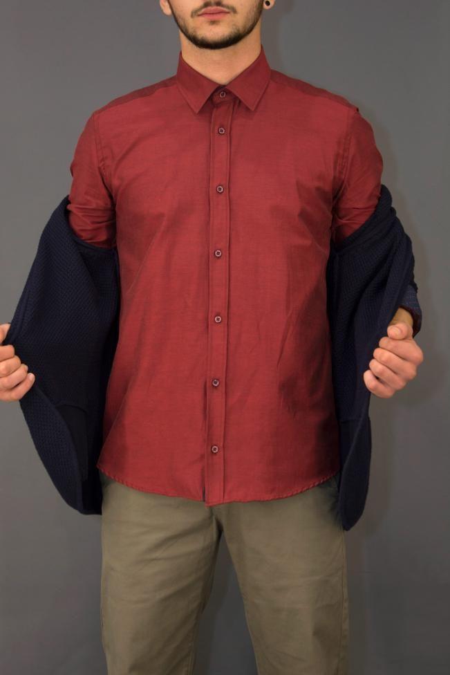 Ανδρικό πουκάμισο μονόχρωμο  POUK-1650  Πουκάμισα > Άνδρας