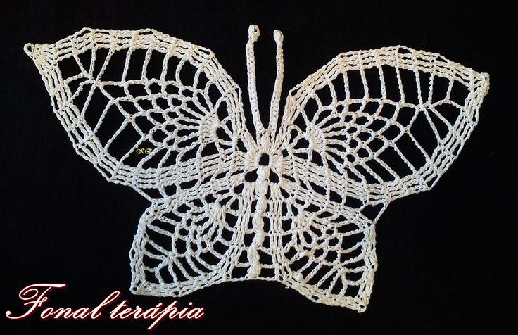 fehér#horgolt#pillangó