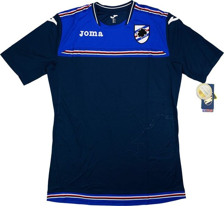 2016-17 Sampdoria Joma Training Shirt *BNIB* - Training - Clearance - Classic Retro Vintage Football Shirts